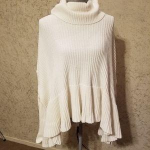 Creamy white Free People sweater.